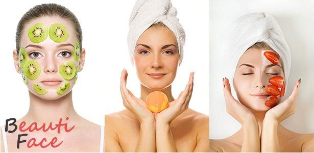 Многообразие фруктовых масок для лица