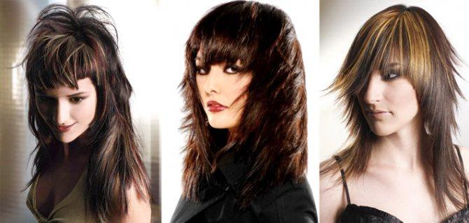 Модная стрижка каскад 2015 года для длинных волос