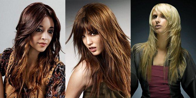 Модная стрижка каскад 2015 на длинные волосы