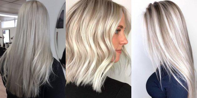 модное окрашивание: серебряный блонд