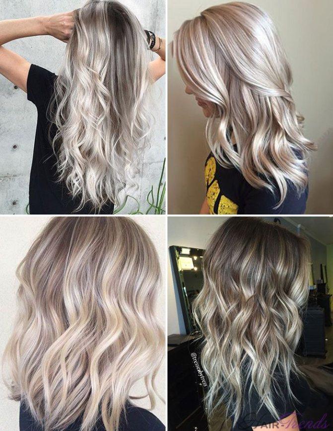 Модное окрашивание светлых волос, Хрустальный Пепел