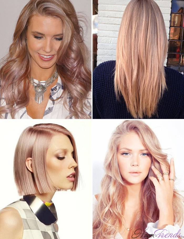 Модное окрашивание светлых волос, Клубника И Шампанское