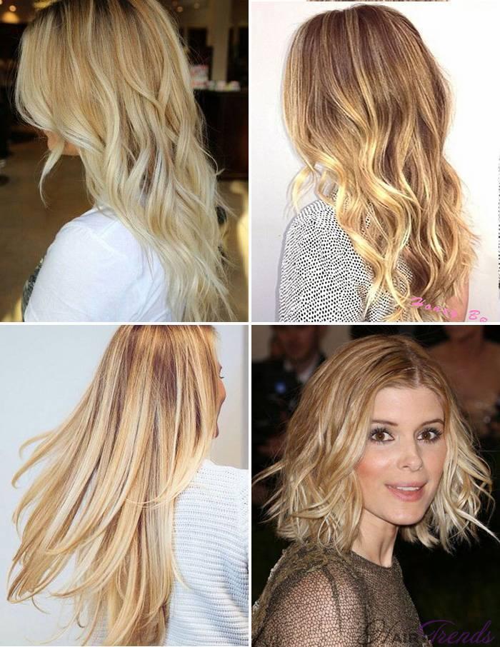 Модное окрашивание светлых волос, Медово-масляный блонд