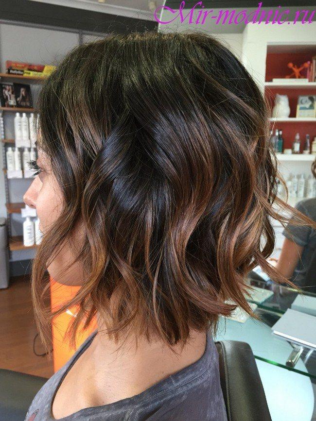 Модное окрашивание волос 2020 на короткие волосы фото