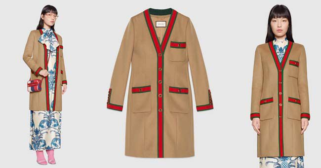 Модное пальто Gucci 2020 фото