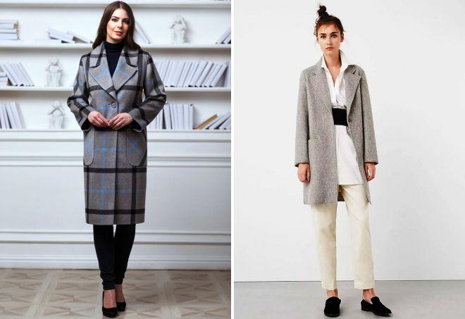 модное серое пальто 2017