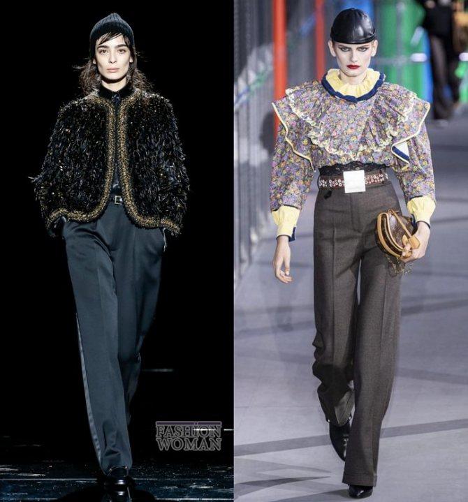 Модные брюки осень-зима 2019-2020 фото №16