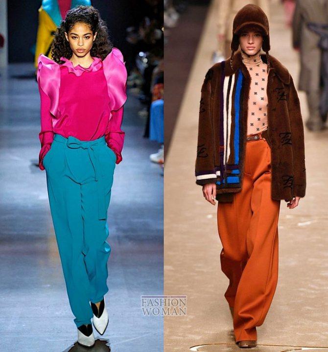 Модные брюки осень-зима 2019-2020 фото №38