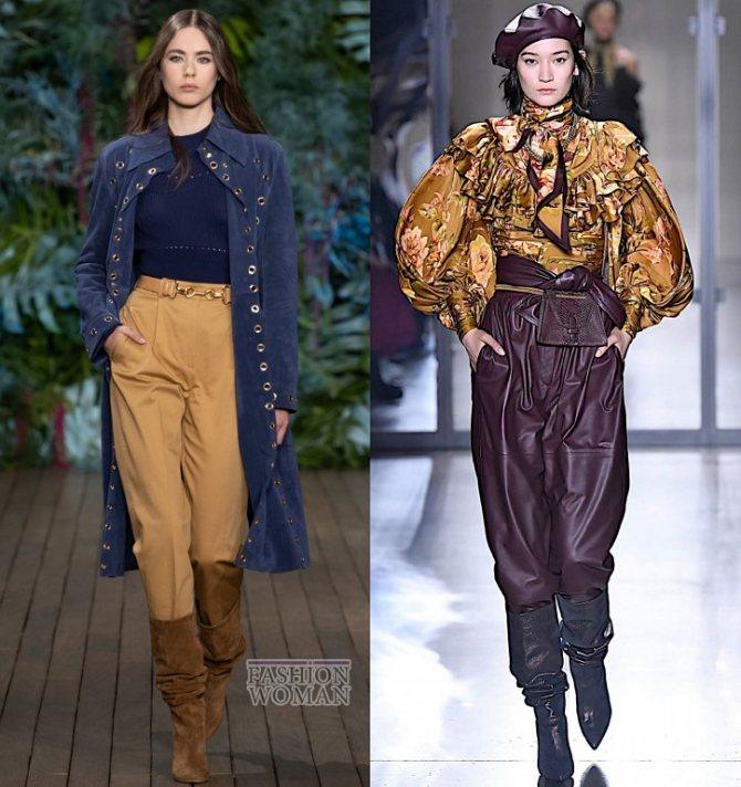 Модные брюки осень-зима 2019-2020 фото №49
