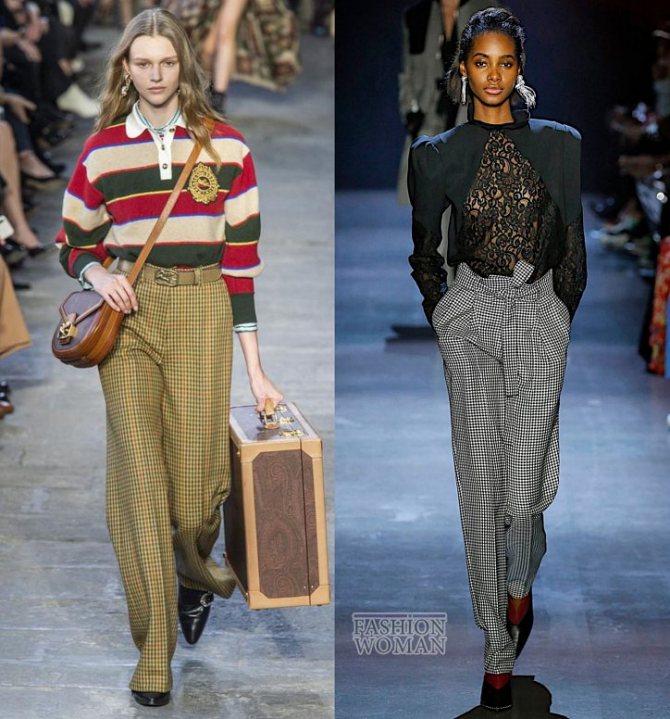 Модные брюки осень-зима 2019-2020 фото №8