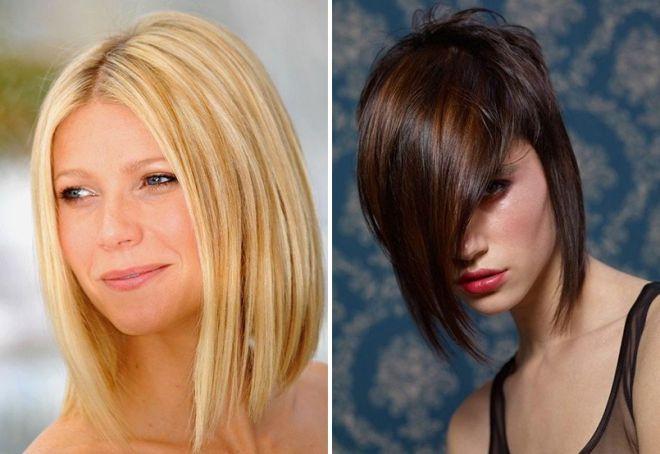модные челки 2020 на средние волосы
