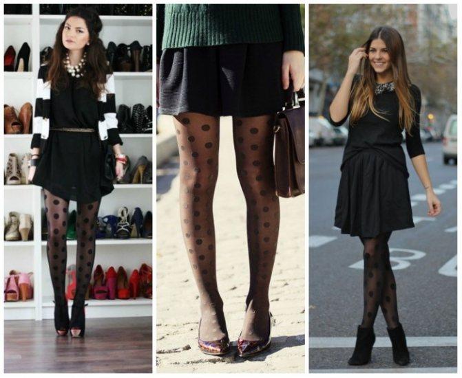 Модные черные колготки весна-лето 2019