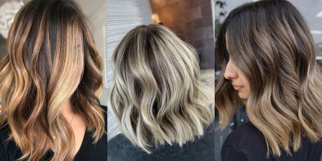 модные цвета волос — 2020: балаяж с контрастными корнями