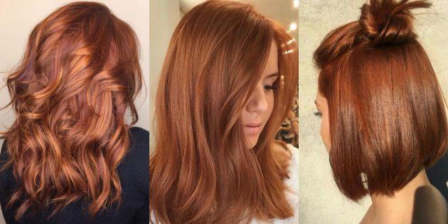 модные цвета волос — 2020: насыщенный рыжий