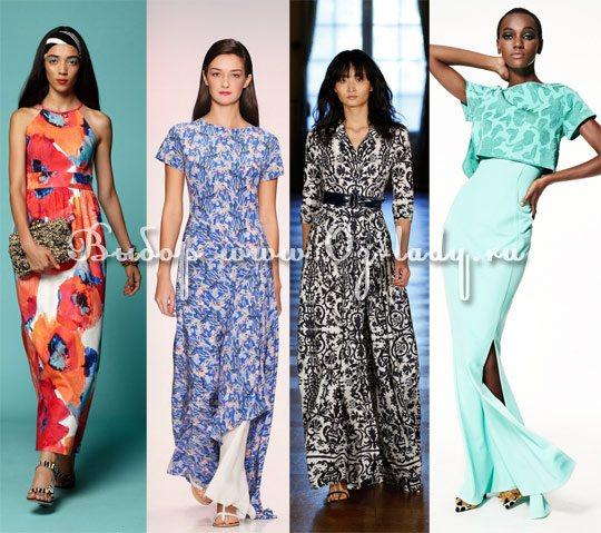 модные длинные платья лето 2015