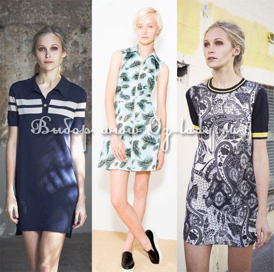 модные фасоны платьев лето 2015