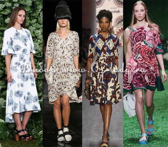 модные модели платьев весна 2015