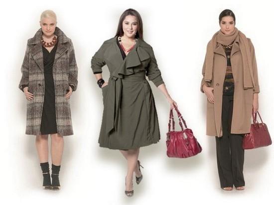 Модные модели верхней одежды больших размеров, стильные образы и что лучше носить полным