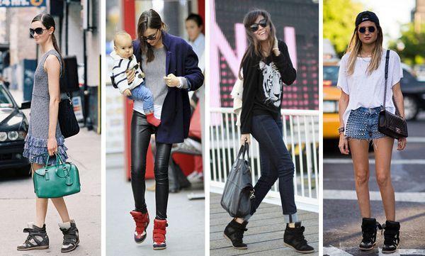 Модные модели женских кед на танкетке и с чем лучше носить такую обувь