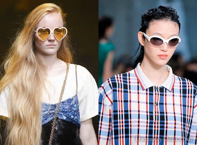 Модные очки в белой оправе