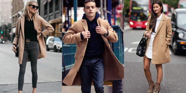 Модные пальто 2018–2019: Верблюжьи пальто