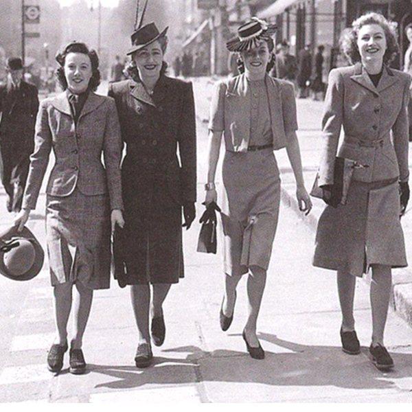 Модные прически 40-х годов прошлого столетия