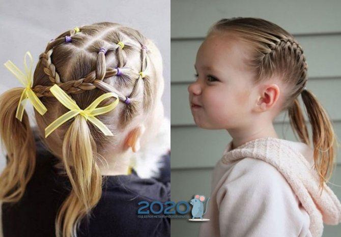 Модные прически малышкам на Новый 2020 год