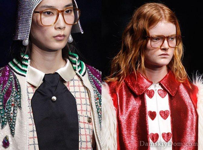 Модные прозрачные очки 2018