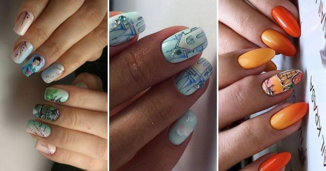 Модные рисунки на ногтях 2020 роспись
