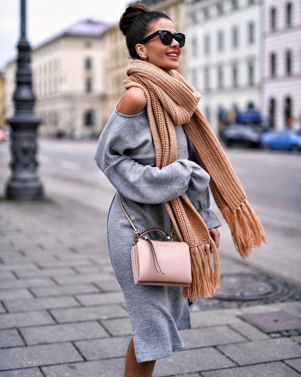 Модные шарфы 2019-2020 - фото, тренды, новинки, идеи, с чем носить шарф