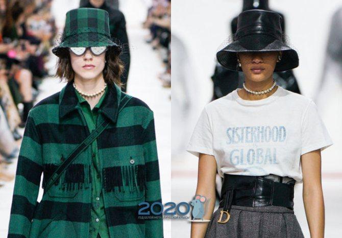 Модные шляпы от Диор осень-зима 2019-2020