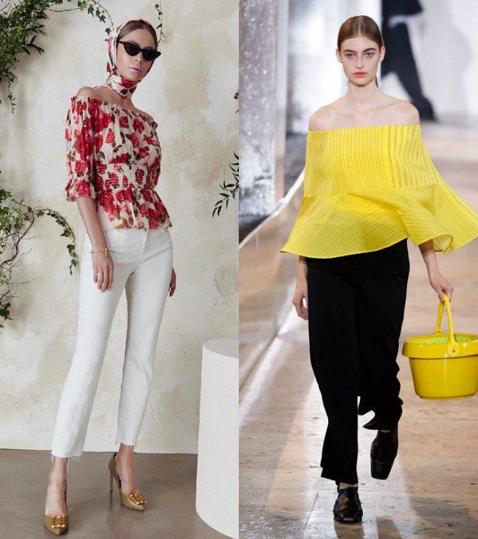 Модные женские блузки весна-лето 2020: основные тренды фото №22