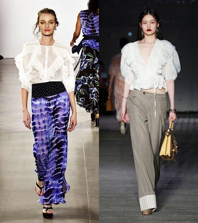 Модные женские блузки весна-лето 2020: основные тренды фото №8