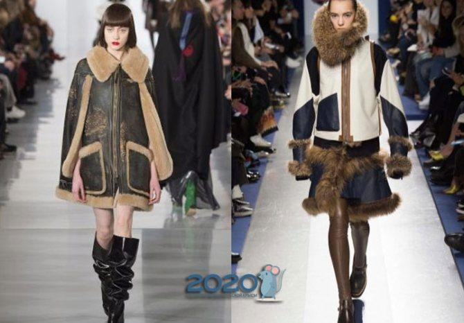 Модные женские дубленки осень-зима 2019-2020