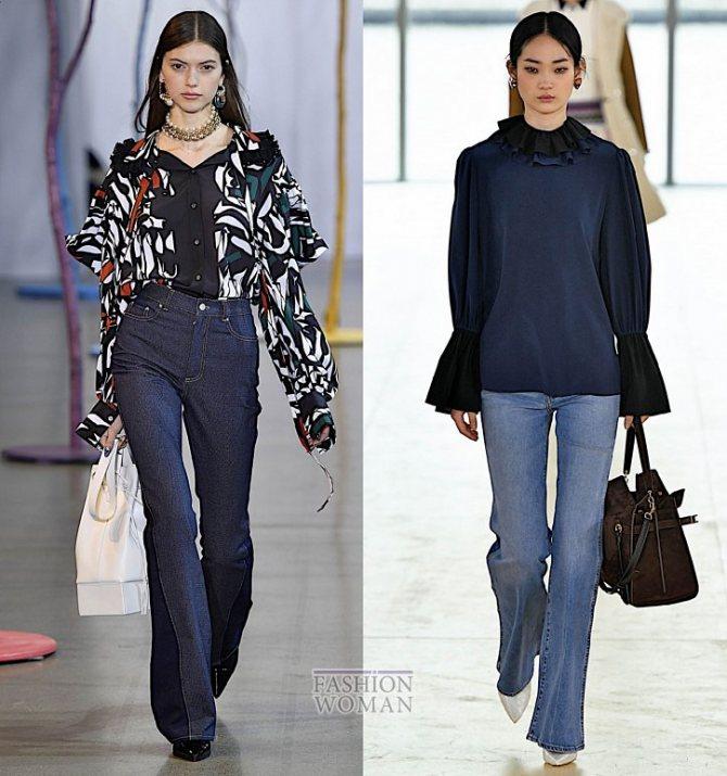 Модные женские джинсы осень-зима 2019-2020 фото №13