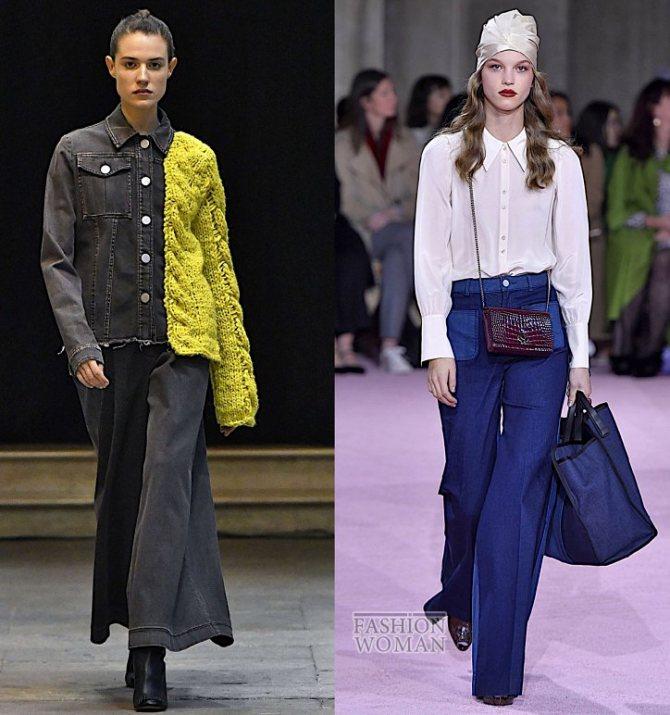 Модные женские джинсы осень-зима 2019-2020 фото №14