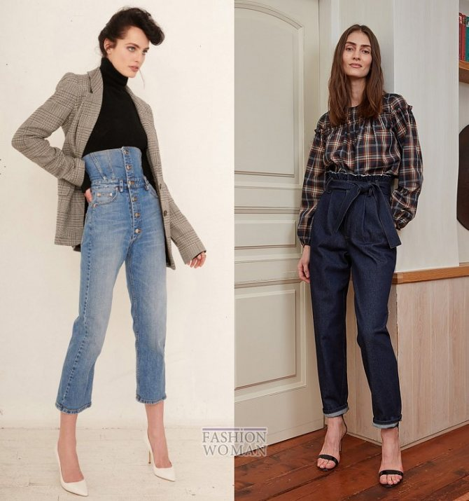 Модные женские джинсы осень-зима 2019-2020 фото №17