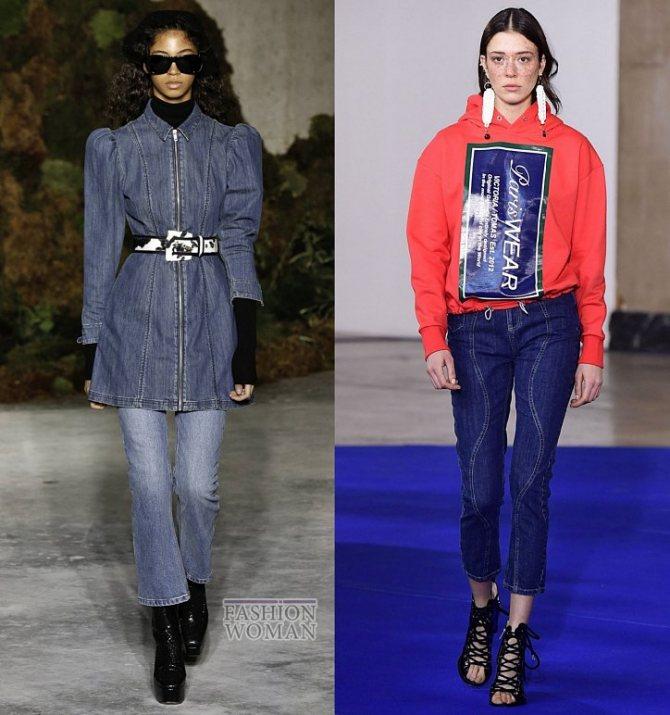 Модные женские джинсы осень-зима 2019-2020 фото №19