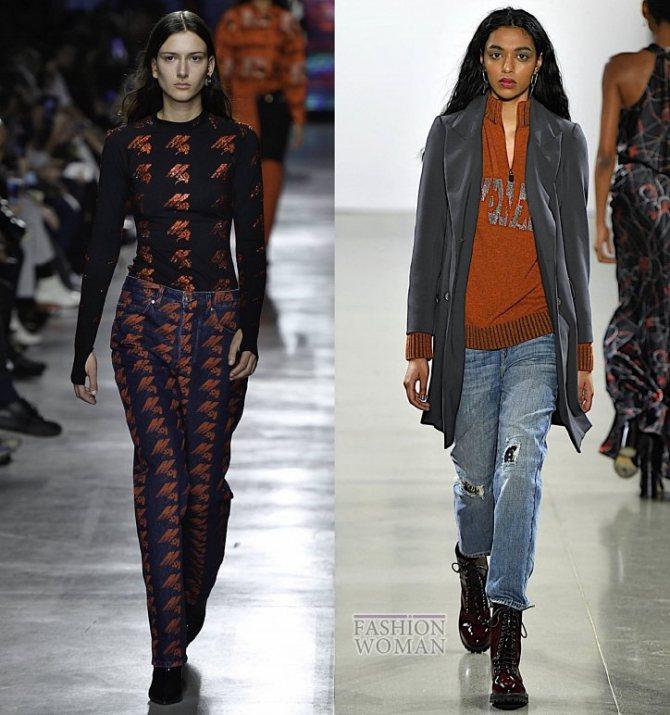Модные женские джинсы осень-зима 2019-2020 фото №22