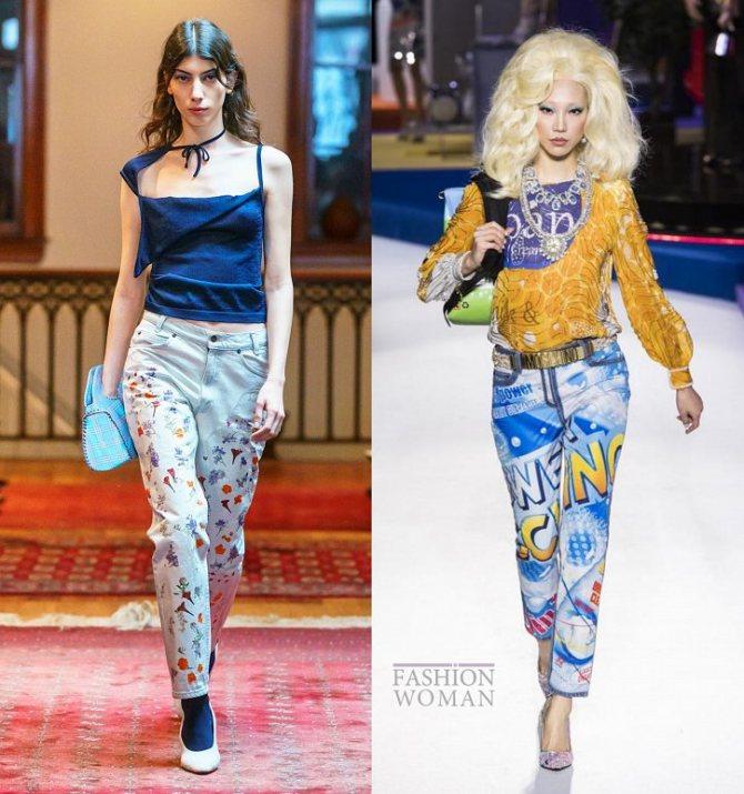 Модные женские джинсы осень-зима 2019-2020 фото №23