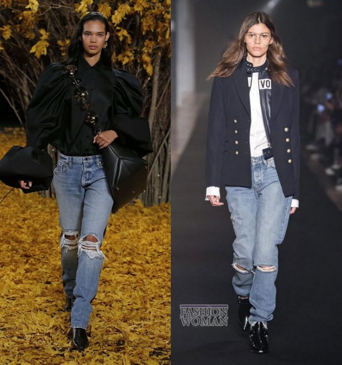 Модные женские джинсы осень-зима 2019-2020 фото №7