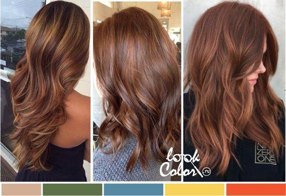 Модный бронзово-медный цвет волос