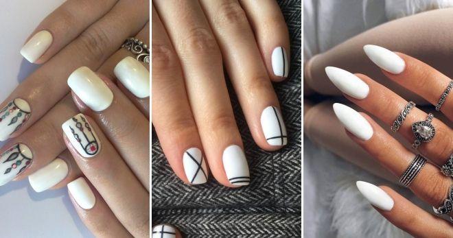 Модный цвет ногтей 2020 белый