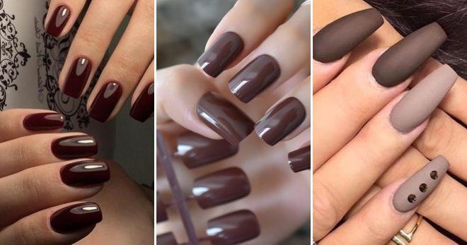 Модный цвет ногтей 2020 коричневый