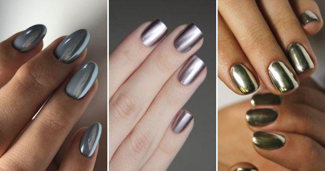 Модный цвет ногтей 2020 металлик