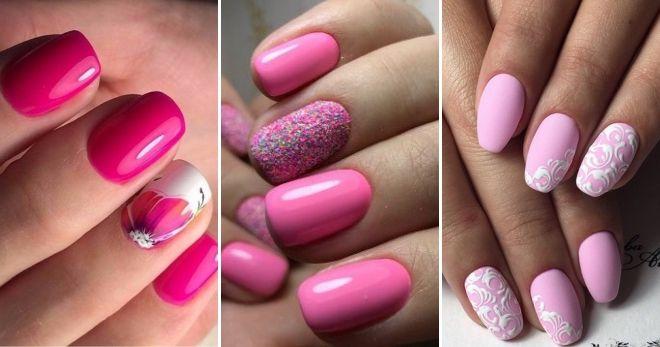 Модный цвет ногтей 2020 розовый