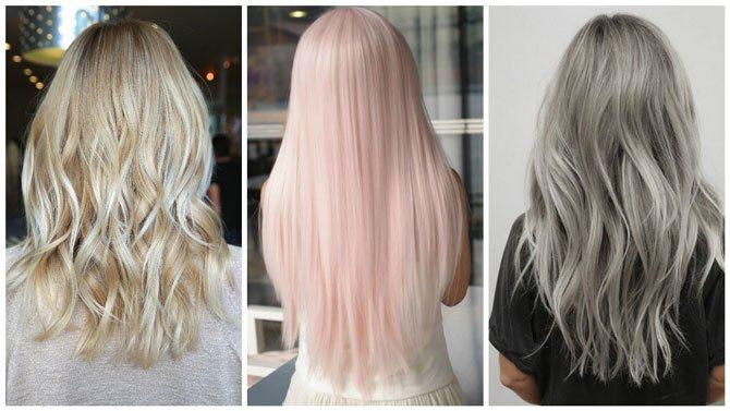 Модный цвет волос 2017 блонд 2