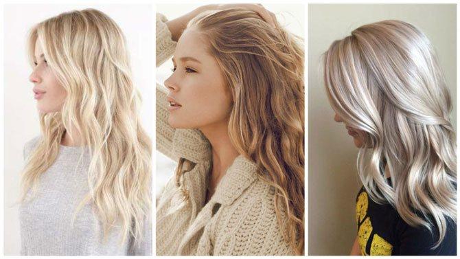 Модный цвет волос 2017 блонд