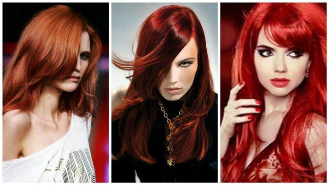 Модный цвет волос 2017 рыжий