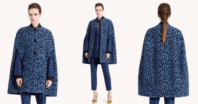 Модный кейп с леопардовым принтом Ermanno Scervino 2018